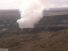Kilauea volcano panorama (center)